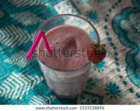 Wada pao and strawberry milkshake , traditional maharastrian pao #1523538896