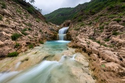 wadi Darbat waterfall from salalah, Sultanate of Oman