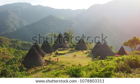 Wae Rebo Village in Flores Indonesia Photo stock ©