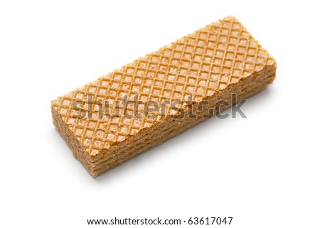 Wafers isolated on white