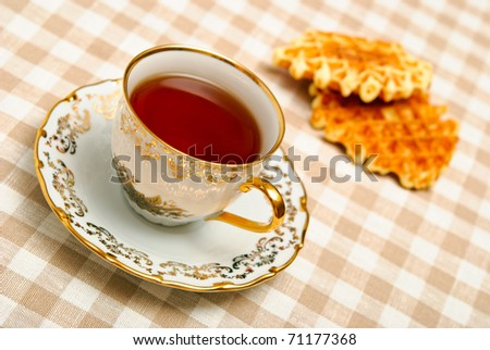 waffles and cup of tea