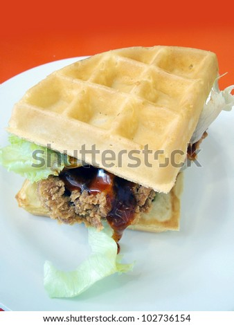 Waffles fried chicken