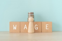 WAGE; Wooden blocks with