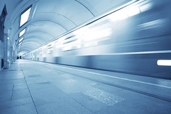 wagon train subway movement, transportation concept abstract background without people