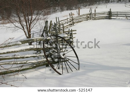 Wagon Wheel in Snow II