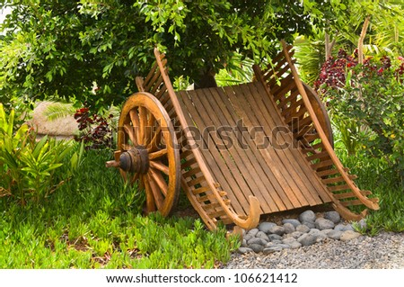 Wagon with spoked wheels