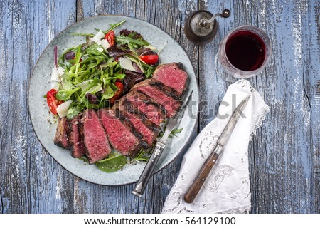 Wagyu Prime Rib Steak with Italien Salad