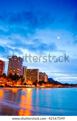 Waikiki beach - stock photo
