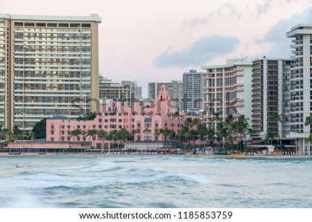 Stock Photo Waikiki in the early morning
