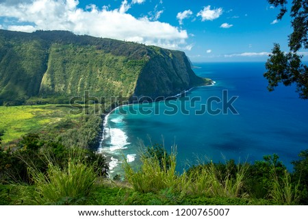 Waipio Valley Lookout,Big Island Hawaii #1200765007