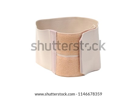 Waist slimming belt isolated on white