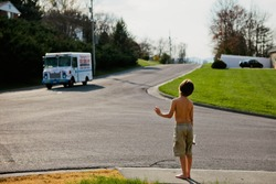 Waiting for the ice cream truck