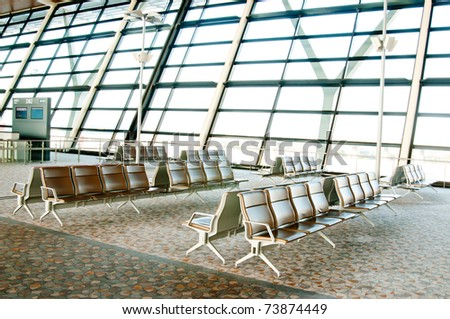 Waiting lounge in an Korea airport