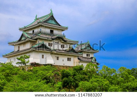 Wakayama  in Wakayama citye , Wakayama Prefecture, Japan, sits at the mouth of the Kii River.