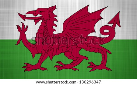 Wales Flag with a fabric texture