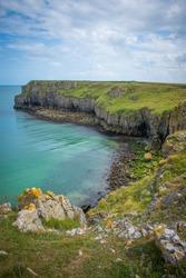 Wales, Pembrokeshire coastal landscape in springtime