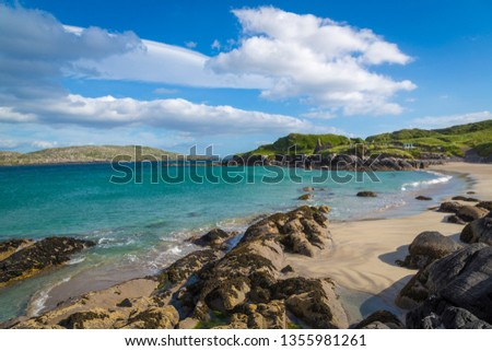 Walk along Derrynane Beach to Abbey Island #1355981261