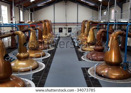 walk around a scottish distillery