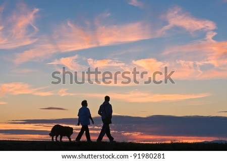 Walk at Sunset