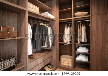 walk in closet of gentle man #1299139309