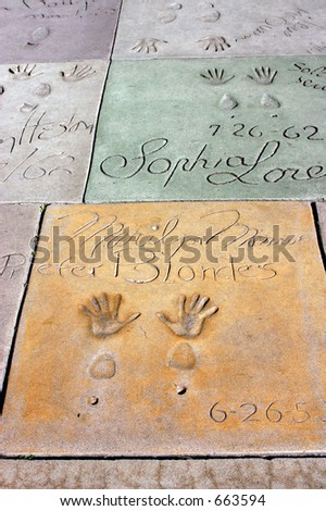 Walk of Fame, Hollywood California.