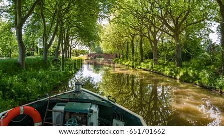 Walk on the Canal du Midi, South of France
