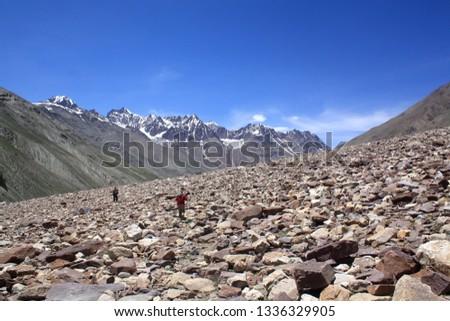 Walk over Moraine, Moraine trail, Expedition, Chandratal to Baralachala trek, remote trekking, Chandratal to baralachala trek