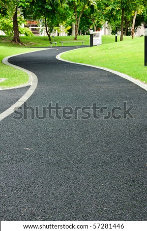Walk path in park
