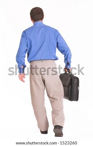 Walking away business man