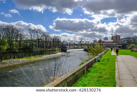 Shutterstock Walking beside the River Lea at Bow,  East London in Springtime.