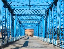 Walking bridge at Grand Rapids, Michigan