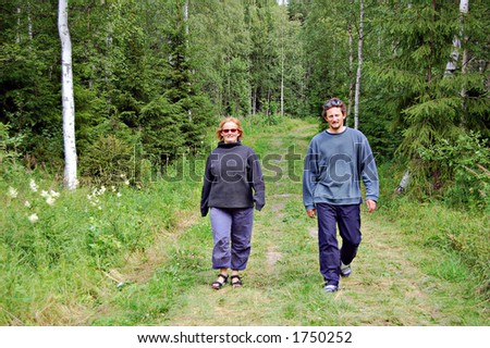 Walking in a Finnish forest