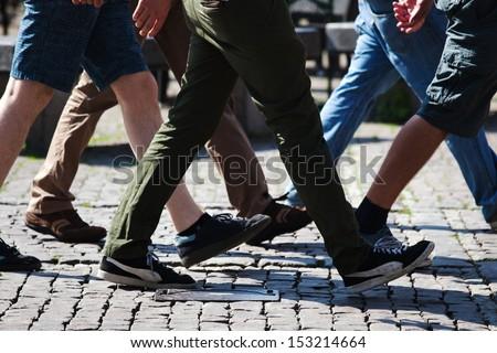 Walking Men In The City