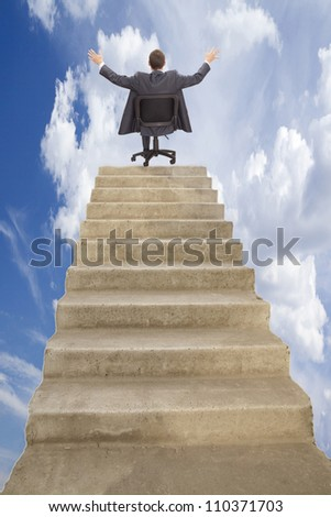 Walking on career ladder presence on top of the career ladder and enjoy the power and dominance of the results of this work