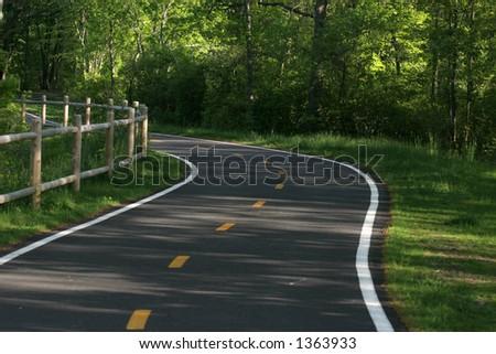 walking path - stock photo