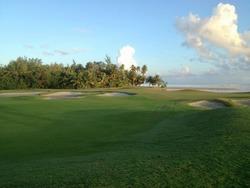 Walking path through a Golf Club in Coco Beach, Puerto Rico during sunrise
