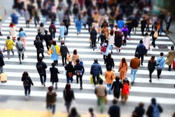 walking people and crowd