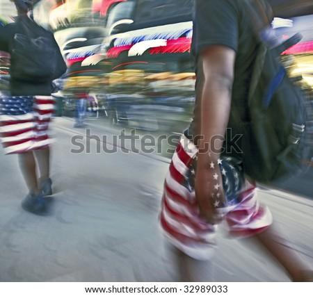 high waisted american flag shorts. high waisted american flag
