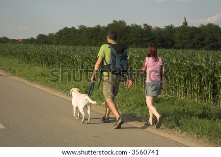 walking with the dog