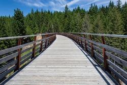 Walkway across former Kinsol Railway Bridge in British Columbia