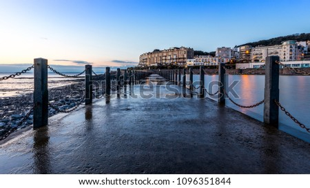 Walkway, Knightstone island, Weston Super Mare, Somerset