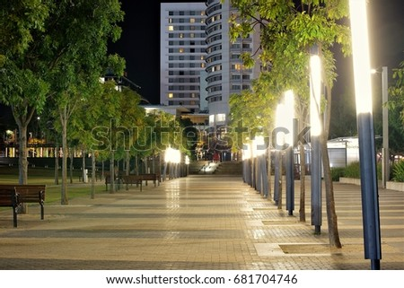 Walkway Lit up at Sydney Olympic park
