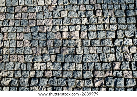 walkway made of granite square stones