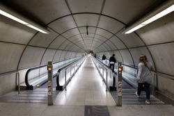 Walkway, Subway - Bilbao, Spain