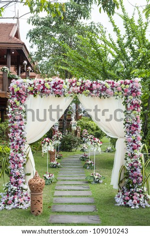 Walkway to wedding engagement