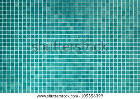 wall and floor mosaic tiles in azure blue
