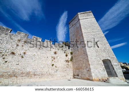 Wall and the Captain's Tower in Zadar Old City, Croatia