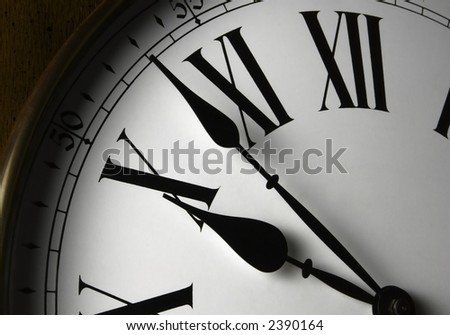 Wall Clock Face - stock photo