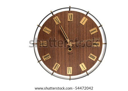 wall clock face isolated on white