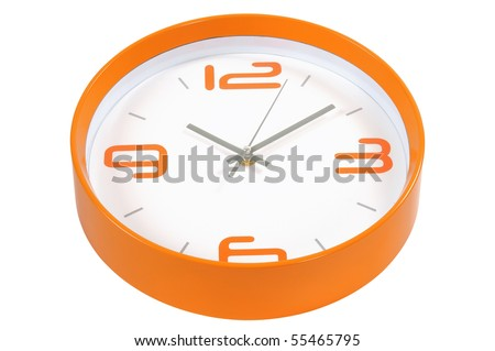 Wall Clock. Isolated - stock photo